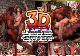 3D Interracial Hentai